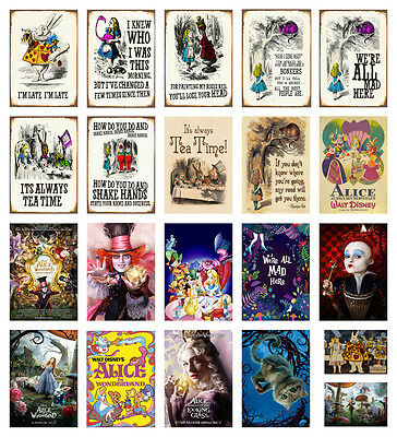ALICE IN WONDERLAND Alice Through the Looking Glass Movie A2 A3 A4 POSTER PRINT