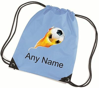 Personalised Flame FOOTBALL School/PE Bag  *Choice Of Colours* Free Postage*