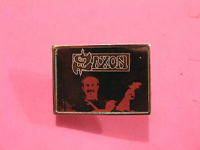 Saxon Vintage Metal Pin Badge Button Uk Made