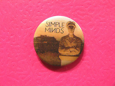 "New Simple Minds 1"" Button Badges Pin Uk Import"