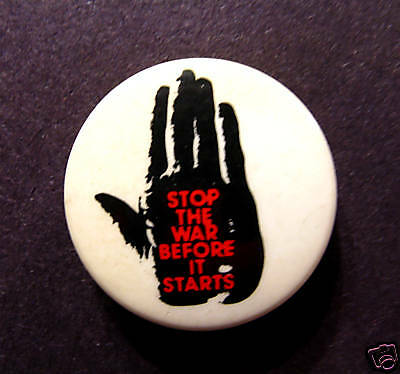 Vintage Political Button Pin Badge Cnd No Nukes Uk Import Peace
