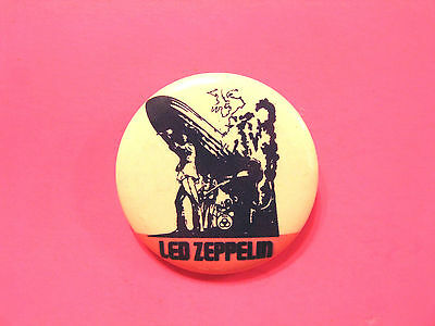 "Vintage Led Zeppelin Button Badge Pin ""zeppelin"""