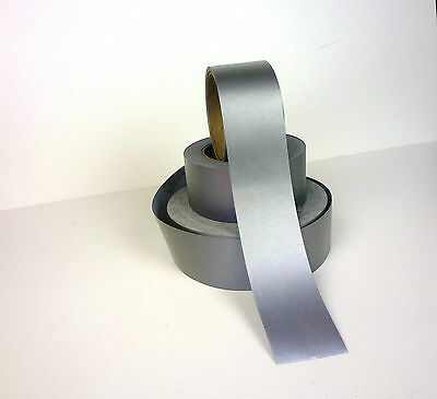 3M™  8910 SILVER REFLECTIVE FABRIC SEW ON TAPE 50mm x 5 METRES