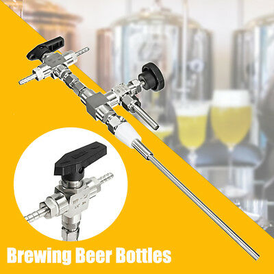 1x Stainless Steel Counter Pressure Beer Bottle Filler Home Brew Brewing CO2
