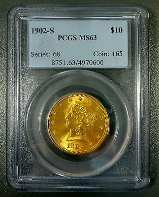 1902-S $10 Gold Eagle PCGS MS63