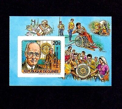 GUINEA - 1985 - ROTARY INTERNATIONAL - 80th - DELUXE - IMPERF MINT S/SHEET!