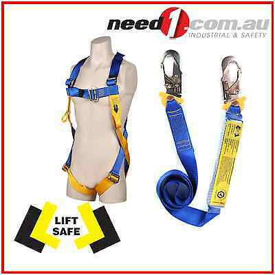 LIFT SAFE Safety Harness & 2M Absorbing Lanyard