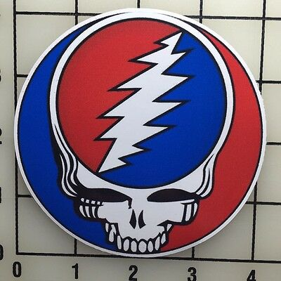 "Grateful Dead Logo 4"" Wide Color Vinyl Decal Sticker - BOGO"