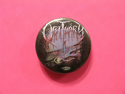 Obituary Vintage Button Badge Pin Not Patch Poster Shirt Cd Lp Uk Import