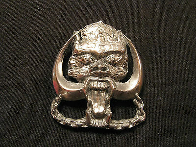 LARGE VINTAGE MOTORHEAD PIN BUTTON BADGE UK IMPORT LATE 70's VERY RARE