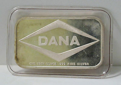 DANA 1 TROY OZ .999 FINE SILVER ART BAR MINT SEALED COLLECTABLE COMMERCIAL Ag