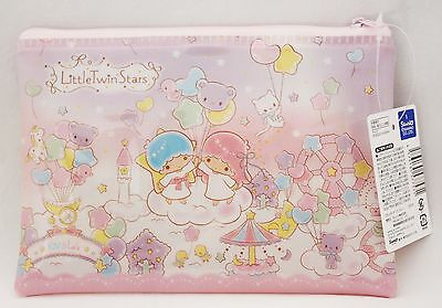New Little Twin Stars Soft Vinyl Bag Pouch Zipper Bag Sanrio Free Shipping