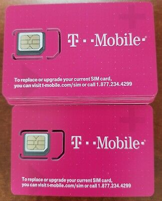 NEW T-Mobile Sim CARD 4G LTE. FACTORY MICRO SIM. UNACTIVATED,  REPLACEMENT SIM