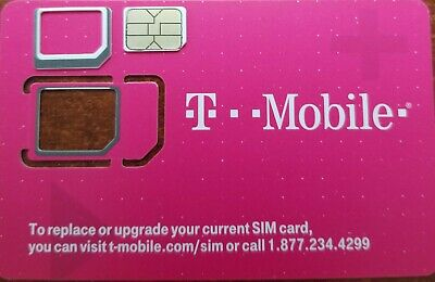 T-Mobile  triple cut Sim Card LTE  NEW UNACTIVATED FOR REPLACEMENT TMOBILE SIM