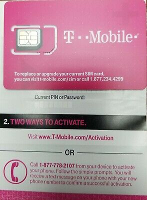 PREPAID T MOBILE kit Nano, Micro or regular sim size (3 in 1) ready to  activate