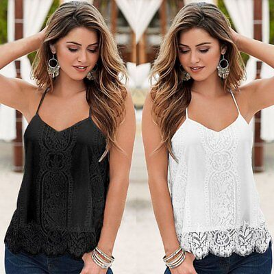 Fashion Women Sleeveless Vest Shirt Tank Tops Blouse Summer Loose T-shirt Casual