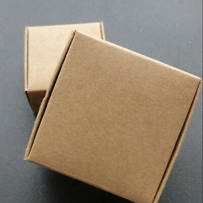 25X Brown Kraft Paper Box Wedding Gifts Packing Boxes Cosmetic Packaging Favors
