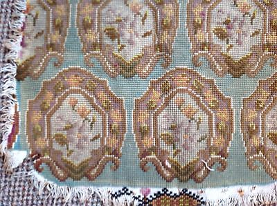 VINTAGE FRENCH FABRIC COVERS FOR DINING CHAIRS ALL UNIQUE TAPESTRY Teal Yellow