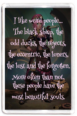 Weird People Black Sheep Duck Loner Loser Odd Quotes Saying Gift Fridge Magnet