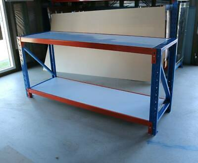 Large Duty Garage Warehouse Steel Work Bench Storage Racking