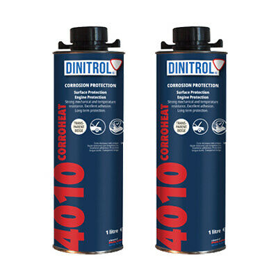 2 x DINITROL 4010 HIGH TEMPERATURE RUST PROOFING ENGINE COATING WAX 1 LITRE