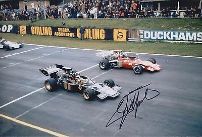 Emerson FITTIPALDI Autograph SIGNED LOTUS Formula 1 F1 12x8 Photo AFTAL COA
