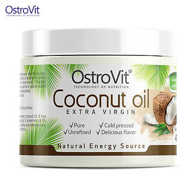 Coconut Oil 400 g Unrefined Extra Virgin Cold-Pressed Organic No Frills Fillers