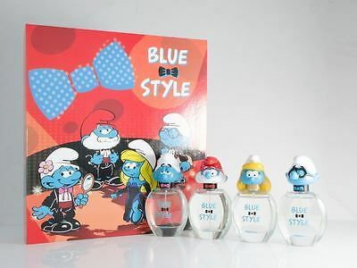The Smurfs 3D Eau de Toilette 50ml x 4 Spray Gift Set Childrens EDT Damaged Box