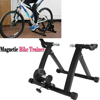 Indoor Bicycle Trainer Rollers Magnetic Stand Resistance Training Exercise Bike