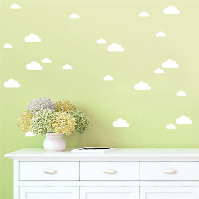 Cloud Polka Dot Feather Raindrop Heart Triangle Wall Decal Stickers Decors Mural