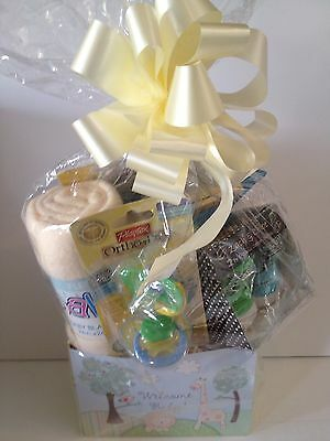 Baby Gift Basket Blanket~Ortho Pro Pacifier~Paci Holder~Booties~Clippers New