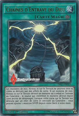 ♦Yu-Gi-Oh!♦ Chaines d'Entrave du Dieu (Egyptien) : DRL3-FR053 -VF/ULTRA RARE-