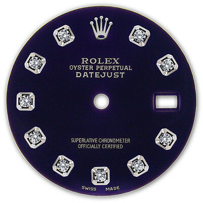 Rolex Mens Datejust Stainless Steel Purple Color Dial with Diamond Accent