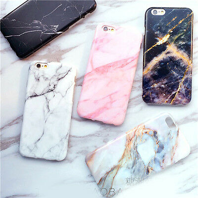 Stylish Cool Granite Marble Stone Effect Soft Case Cover for iPhone 6 6S 7 Plus