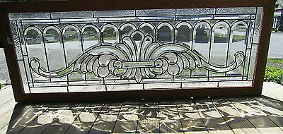 Fancy Antique Beveled Glass Window