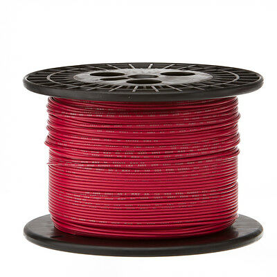 """22 AWG Gauge Solid Hook Up Wire Red 1000 ft 0.0253"""" UL1007 300 Volts"""