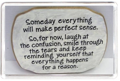 Sense Laugh Smile Tears Happen Reason Life Quotes Saying Gift Fridge Magnet