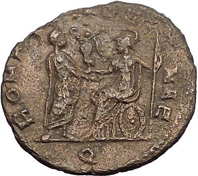 Aurelian receiving Victory from Roma 270AD  Rare Ancient Roman Coin i57412