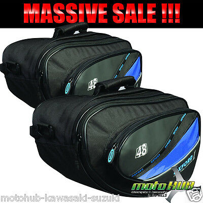 Oxford First Time 48L Motorcycle Sports Touring Luggage Panniers Bags Expandable
