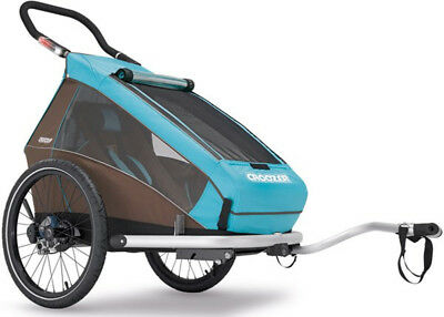 Croozer Kid Plus For 1 Bicycle Trailer 2017 Blue/Brown