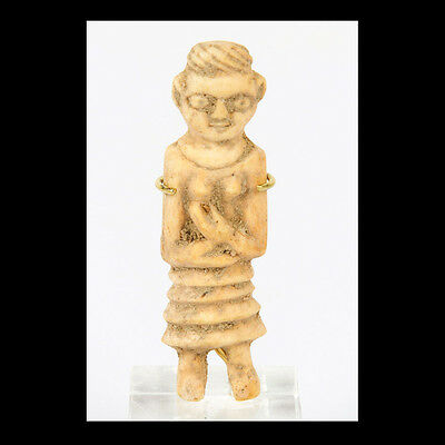 An Indus Valley bone Standing female figurine, Circa 1st Millennium B.C. x9265