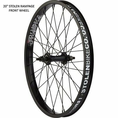 "Stolen Bikes Rampage 20"" BMX Front Wheel - Black Full Wheel 10mm Axle Front only"