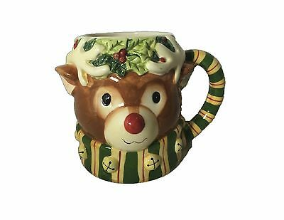 Collectible 'Tis The Season Ceramic Reindeer Mug