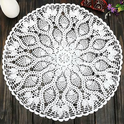 White Cotton Crochet Doily  Patterns Pineapple Floral Round Table Centerpiece
