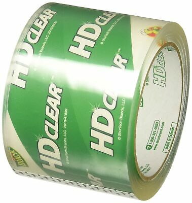 Duck Brand HD Clear High Performance Packaging Tape 3-Inch x 54.6-Yard Crysta...