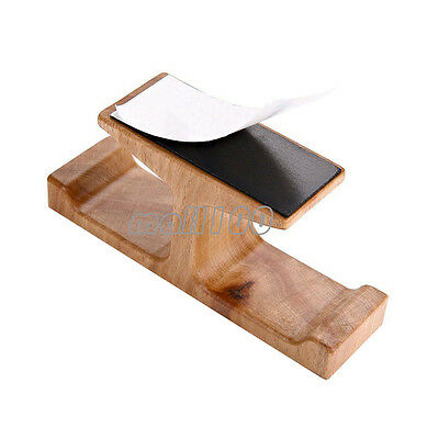 Headphone Stand Adhesive Single Double Hooks Under Desk Hanger Home Office Wood