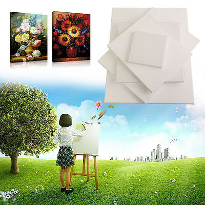 Blank Cotton Canvas Panels Square Mounted Art Artist Boards Painting Tool Craft