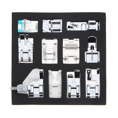 11pcs Domestic Sewing Machine Presser Foot Feet Set for Brother Janome Singer UK
