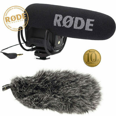 Rode Videomic Pro Rycote With Deadcat VMPR Windsock Shotgun  Microphone DV camer