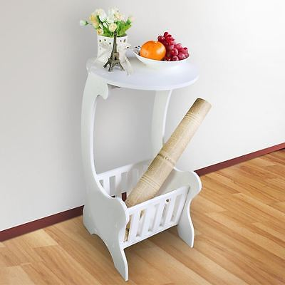White Modern Design Round Coffee Tea Table Side End Table Rack Home Furniture UK